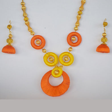 Orange and Yellow Necklace Set