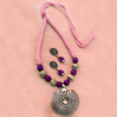 Pink with Purple Neckset