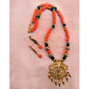 Orange Ethnic Antique Neckset