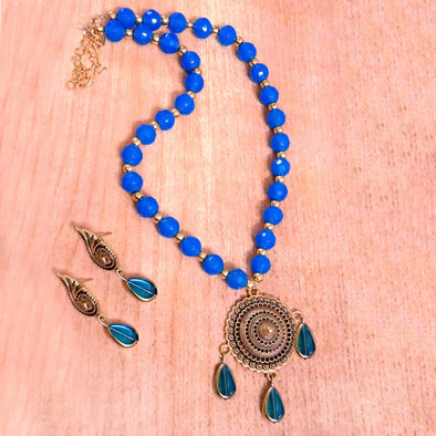 Blue Antique Neckset