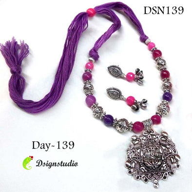 Purple Ganesha Neckset