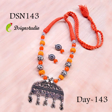 Orange Oxidized Neckset