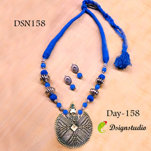 Blue Ethnic Neckset