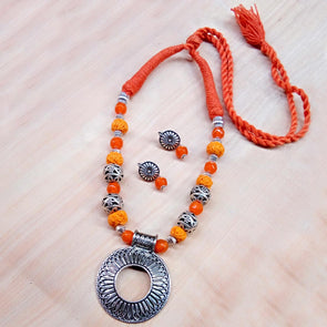 Orange Rounded Neckset