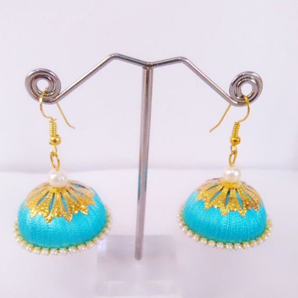 Silk Thread Jhumkas