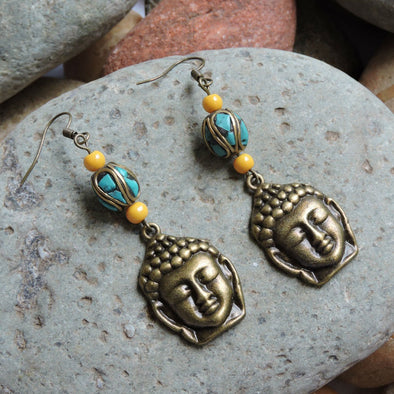 Aura Series - Buddha Earrings 02