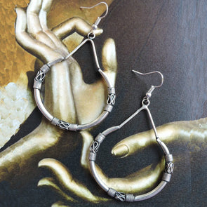 Oxidised Bali Style Earrings