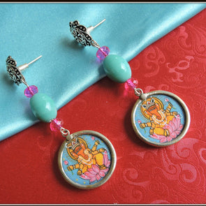 Lotus Ganesha Earrings