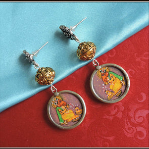 Praying Ganesha Earrings