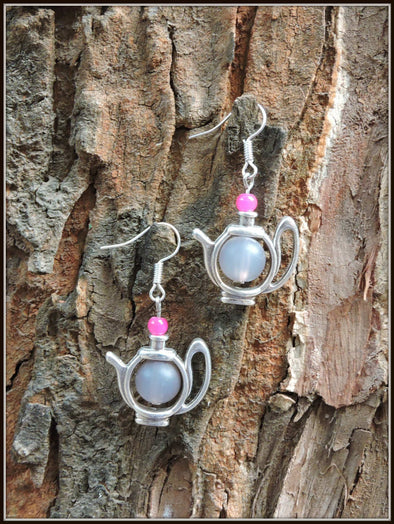 The Grey teapot Earrings
