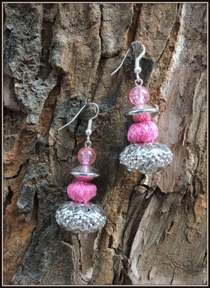The Silver Pink earrings