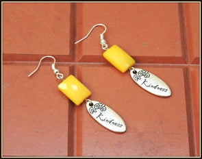 Kindness Earrings - Yellow