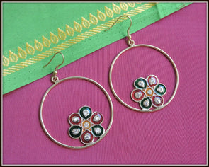 Meenakari Flower Dangler 01