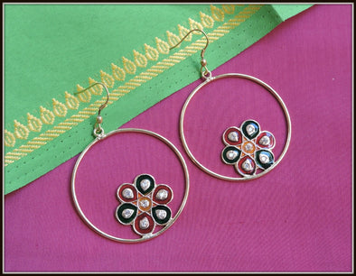 Meenakari Flower Dangler 02