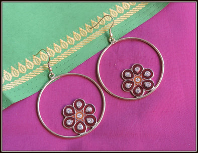 Meenakari Flower Dangler 03