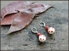 Porcelain Bead Earrings 04