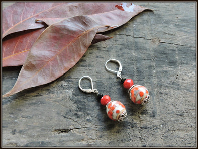 Porcelain Bead Earrings 06