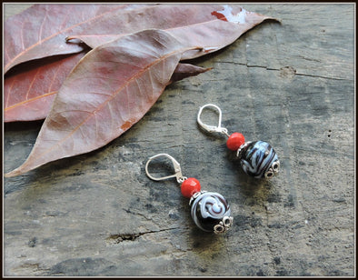 Porcelain Bead Earrings 07