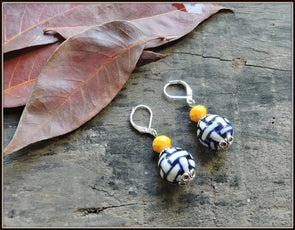Porcelain Bead Earrings 08