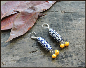 Porcelain Bead Earrings 11