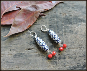 Porcelain Bead Earrings 12