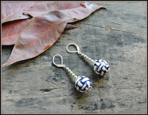 Porcelain Bead Earrings 14