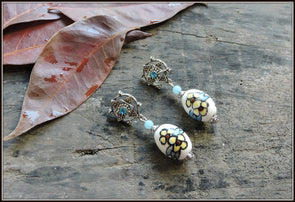Porcelain Bead Earrings 15