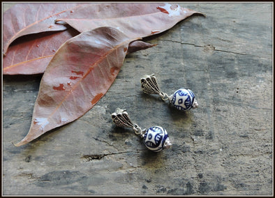 Porcelain Bead Earrings 16