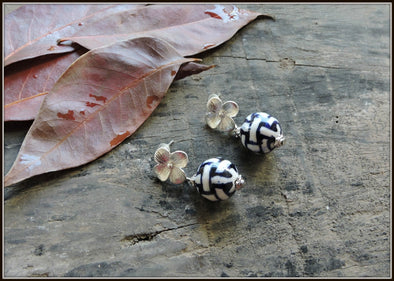Porcelain Bead Earrings 17