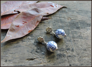 Porcelain Bead Earrings 18
