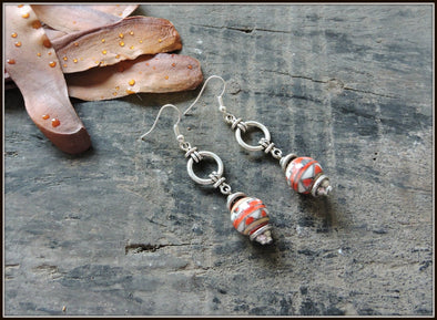 Porcelain Bead Earrings 20
