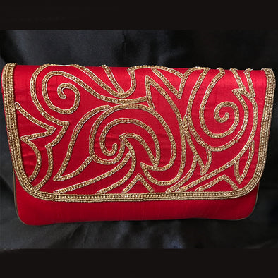 Ethnic Satin Clutch