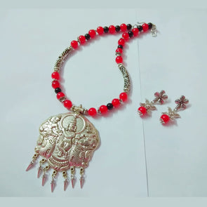Glass Beads Krishna Neckpiece