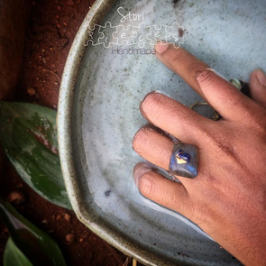 Labradorite Squared Up Ring