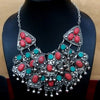 Tribal Red-Turquoise Necklace