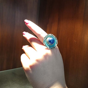 Banjara Collection - Blue and Green Ring