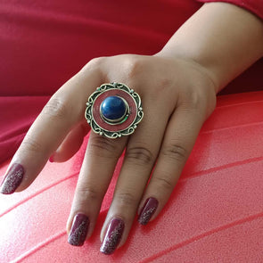 Banjara Collection - Blue and Red Ring