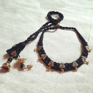Antique Gold Leaf Choker