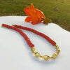 Red and Golden Dholki Necklace