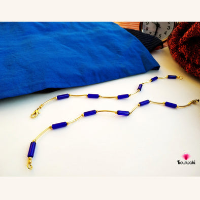 Enthralling Blue Golden Anklets