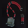 Red Coral Imitation Necklace Set