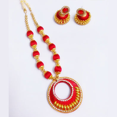 Silk Thread Necklace Set 14