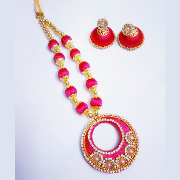 Silk Thread Necklace Set 8