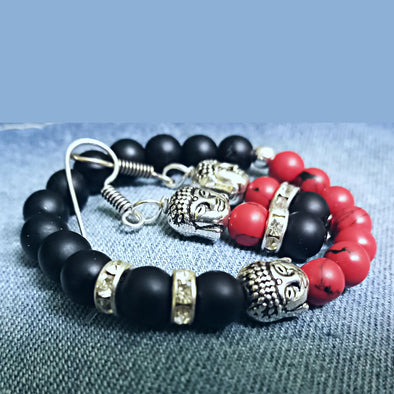 Buddha Bracelet and Earrings Combo