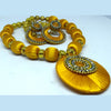Golden Colored Chandbali Silk Thread Set