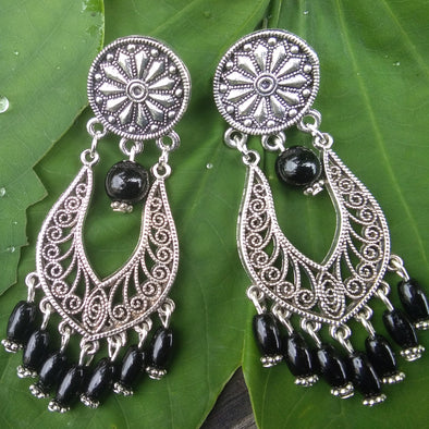 Black Oxidized Earrings