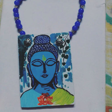 Buddha Painting Statement Neckpiece