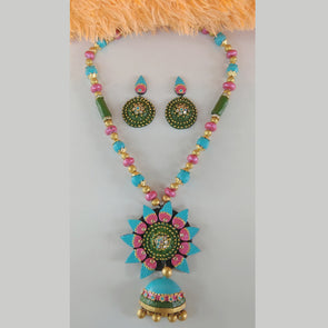 Terracotta Flower Jewellery Set