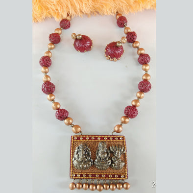 Terracotta 3 God Jewellery Set