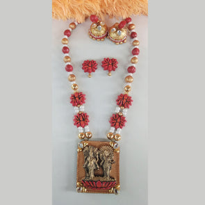 Terracotta Temple Jewellery Set